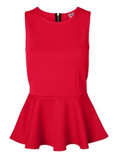 Red peplum top from VERO MODA. #veromoda #top #red #fashion