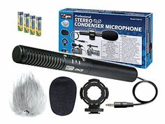JVC GRD775 Camcorder External Microphone Vidpro XMCS Condenser Stereo XY Microphone Kit for DSLRs video camcorders and audio recorders  With a Pack of 4 AA NiMH Rechargable Batteries  2800mAh * Visit the image link more details.