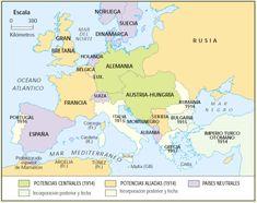 Mapa de Europa en 1914.