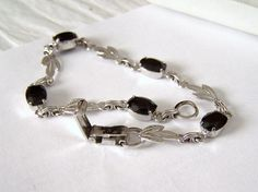 Onyx & Sterling Bracelet Artisan Altered by ExquisiteStudios FREE PRIORITY SHIPPING NOW THROUGH SATURDAY, OCT. 18th. ENJOY!
