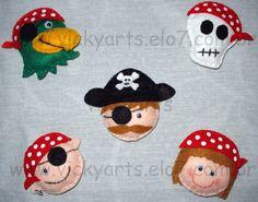 Carinhas em feltro - pirata