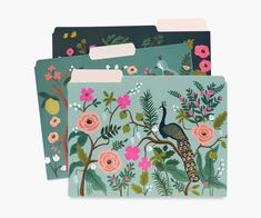 Shanghai Garden Assorted File Folders Workflow Rifle Paper Co Shanghai, File Folder Labels, File Folders, Diy Chemise, Command Center Kitchen, Command Centers, Greeting Card Shops, Driven By Decor, Office Supply Organization