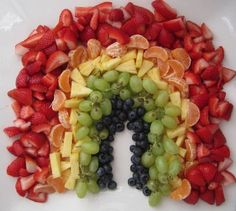 Fruit Rainbow! SO cute. great way to encourage healthy eating :)