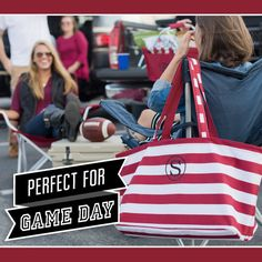 Game Day Ultimate Totes -  Monogrammed Market Tote, Monogram Tote, College Football, Tailgate Party, Alabama, SC Gamecocks, Georgia Bulldogs by LilyLouiseDesigns on Etsy