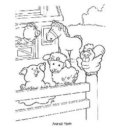 Farm Animal Coloring Pages  PreK  Pinterest  Farming Busy