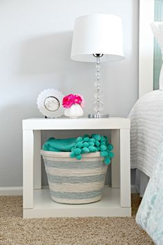 IHeart Organizing: DIY Rope Basket. This would be a great gift basket for a wedding shower!!