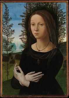 Portrait of a Young Woman - Lorenzo di Credi (Lorenzo d'Andrea d'Oderigo) (Italian, Florence 1456/59–1536 Florence) Date: ca. 1490–1500