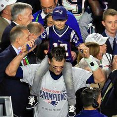 """My Dad is Super Bowl MVP""  #SB49 New England Patriots Tom Brady"