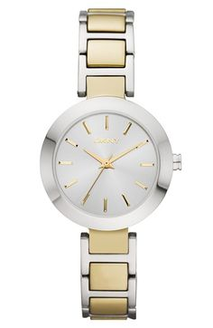 Free shipping and returns on DKNY 'Stanhope' Round Bracelet Watch, 28mm at Nordstrom.com. A wide high-polished bezel frames the three-hand sun-ray dial topping a lovely, wear-anywhere bracelet watch.