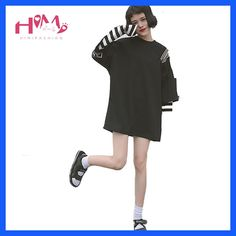 Cheap white tee, Buy Quality women t-shirt directly from China graphic top Suppliers: New Harajuku Fake Two Piece Women T-Shirt Korean Ulzzang Striped Graphic Tops 2017 Casual Oversize Funny Female Loose White Tee T Shirt Fonts, Harajuku, Korean Ulzzang, T Shirts For Women, Clothes For Women, White Tees, Casual Tops, Korean Fashion, One Piece
