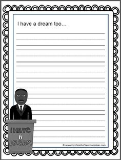 #FREE Printable for Your Classroom in the Free Preview. Martin Luther King Jr. Literacy Centers #TPT $Paid