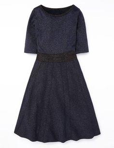 Navy & Black Sparkle Milano Dress - Boden
