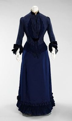 Dress (image 1) | Emile Pingat | 1885 | French; Paris | silk, cotton |  Brooklyn Museum Costume Collection at The Metropolitan Museum of Art | Accession Number: 2009.300.628a, b