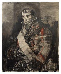 Rico Lebrun, (American, 1900-1964), Portrait of a Spanish Gentleman, 1958