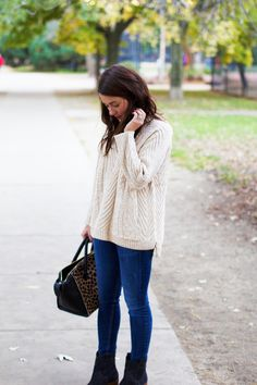 Sweater and Boots | Sequins & Stripes