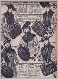 1916 Weasel, Jap Mink, and American Fur Sets Sears