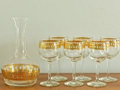 Hey, I found this really awesome Etsy listing at https://www.etsy.com/listing/234455644/culver-glass-set-wine-glasses-carafe