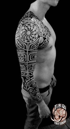 Polynesian Sleeves / Arm Tattoos - Po'oino Yrondi