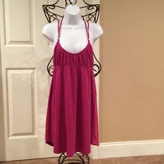 ROXY KNIT DRESS WOULD MAKE A GREAT SWIMSUIT COVER-UP. PINK IN COLOR. COTTON 60%, POLYESTER 40%. Roxy Swim Coverups