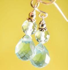 Patty Tobin – Aqua Quartz Briolette Earrings