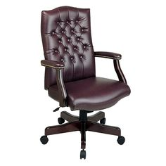 Office Star Products Traditional Executive Chair, Multicolor