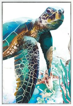 Pin on Crafty - May 2020 – This Pin was discovered by krystal felt. Discover (and save!) your own Pins on Pint - Art Painting, Fish Art, Animal Art, Sea Turtle Painting, Turtle Painting Acrylic, Acrylic Canvas, Art, Animal Paintings, Canvas Painting