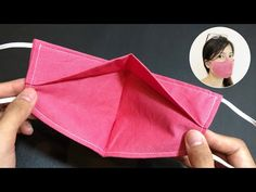 (64) New design - NO FOG ON GLASSES - Very quick & easy 3D face mask sewing tutorial - YouTube Diy Sewing Projects, Sewing Projects For Beginners, Sewing Hacks, Sewing Tutorials, Sewing Crafts, Easy Face Masks, Homemade Face Masks, Diy Face Mask, Mascara 3d