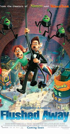 Watch Flushed Away Full-Movie Funny Movies For Kids, Funny Kids, Family Movies, Ian Mckellen, Dreamworks Movies, Dreamworks Animation, Owen Wilson, Kate Mckinnon, Eddie Murphy