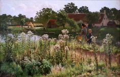 Artist	 Emile Claus (1849–1924) Link back to Creator infobox template wikidata:Q733002 Title	The river Lys at Astene