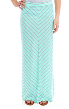 Deb Shops #chevron stripe #maxi skirt