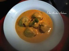 Soya Ball Kadhi   Soyabean Sabzi   Punjabi Kadhi with Mealmaker ~ Esho Bosho Aahare
