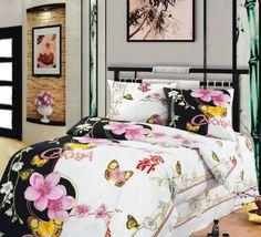 black and white decorating ideas, black white bedding fabric