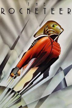 "24/"" FILM  ART POSTER ROCKETEER A1 SIZE PRINT painting movie rocket man"