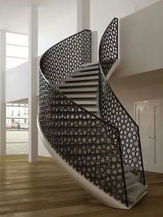 Captivating Creative Wooden Staircase Designed By Atmos Studio For Nature Inspired  Residential House In London, England. The Staircase Was Formed From A  Seriesu2026 Nice Design
