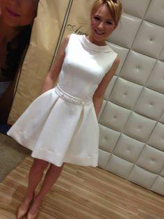 Krótka suknia ślubna Anny Guzik