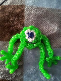 Rainbow Loom MIKE (Monsters Inc.) Designed and loomed by Heather M Osborne. Rainbow Loom FB page. 03/07/14