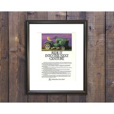 New to RetroPapers on Etsy: Vintage John Deere Home Decor Ad - 1980s Retro Advertisement: Ride It Into the Next Century - 80s Farm & Garage Rustic Framed Men Decor (7.49 USD)