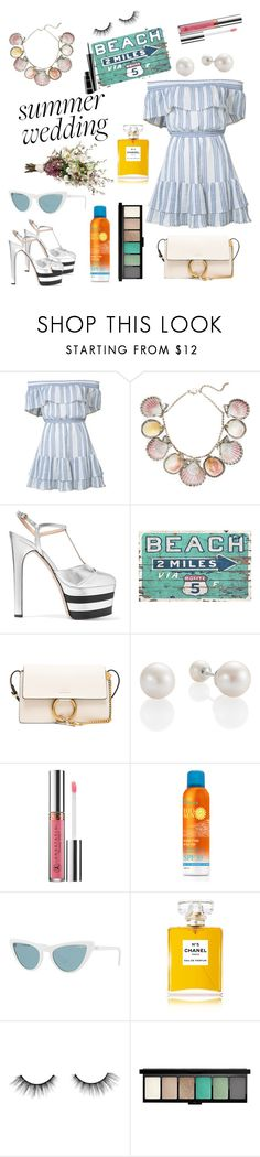 """Sunscreen and The Wedding 🏖"" by miruna-catea ❤ liked on Polyvore featuring LoveShackFancy, Paolo Costagli, Gucci, Chloé, Anastasia Beverly Hills, Vogue, Chanel, tarte and MAC Cosmetics"