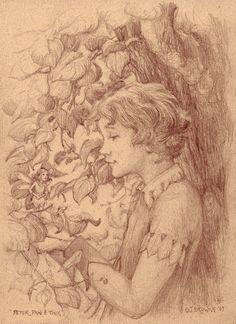 Peter Pan and Tinkerbell Fairy 8x10 Signed Print door brownieman
