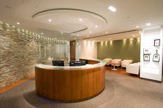 Reception. Canadian Institute For Health. 110,000 sq.ft designed by SDI Interior Design