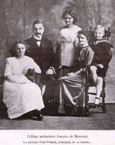 Dr. Paul Villard et sa famille. Institut méthodiste français, Westmount, Québec