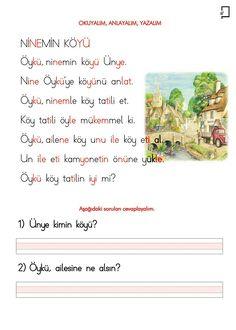 3. Grup Sesler Okuma Yazma Ö Sesi Metin Okuma Anlama Yazma Etkinlikleri