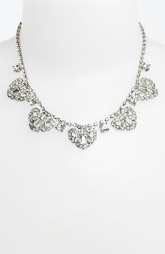 Nina 'Mulberry' Crystal Frontal Necklace available at #Nordstrom