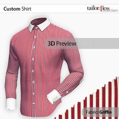 Get to know our 3D shirt designer and customize your garments at www.tailor4less.com Tailored Shirts, Custom Shirts, Shirt Designs, Shirt Dress, 3d, Fabric, Mens Tops, Dresses, Fashion