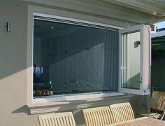 Pass Through Kitchen Window With Screen Window Fly Screens, Fly Screen Doors, Window Hinges, Window Bars, Bay Window, Kitchen Window Bar, Open Kitchen, Kitchen Reno, Pass Through Kitchen