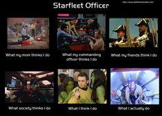 The life of a Starfleet officer. #StarTrek