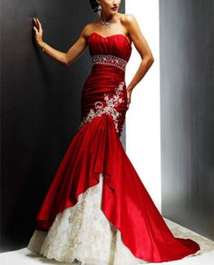 2014 New Sexy Strapless Red / Pink / Black Beach by Perfectdresses, $184.00