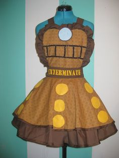 Doctor Who Dalek Inspired Cosplay Apron Pinafore. $90.00, via Etsy.