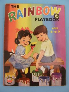 Wonder Books 1955 ''The Rainbow Playbook'' ill. by Crosby Newell