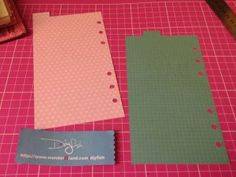 Tutorial No.7 – Filofax Divider Page DIY